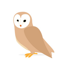 owl or eagle-owl bird vector image