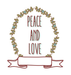 peace and love cartoon vector image