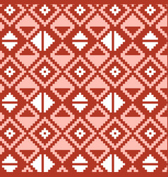 Pixel triangles seamless pattern vector