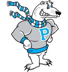 polar bear logo mascot vector image