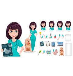 professional female vet doctor vector image