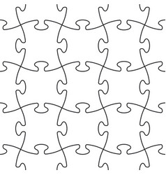 Puzzle seamless pattern or puzzle template on vector