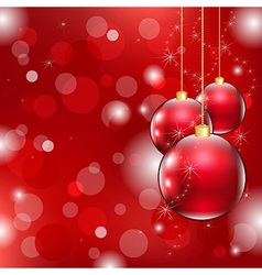 Red Christmas Background With Christmas Ball vector image
