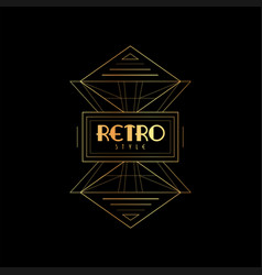 retro style golden and black vector image