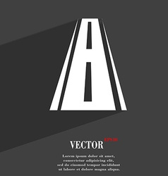 Road icon symbol Flat modern web design with long vector image