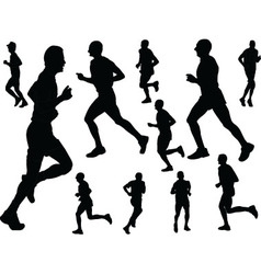 running people - vector image