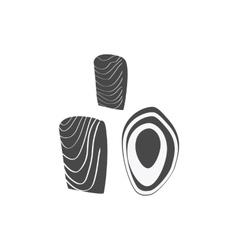 Salmon Steak Flat Design vector image