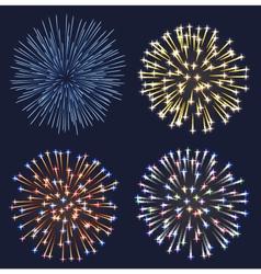 Set fireworks vector