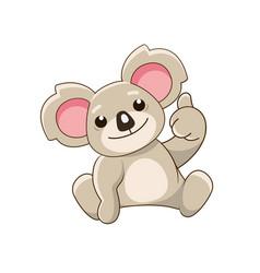 smiling koala showing thumbs up vector image