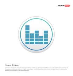 Sound beats icon - white circle button vector