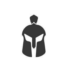 spartan helmet icon design template isolated vector image