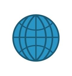 Sphere global communication internet icon vector