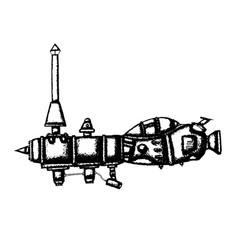submarine doodle sketch vector image