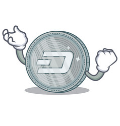 Successful dash coin character cartoon vector