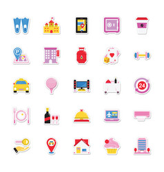 Summer and holidays icons 18 vector