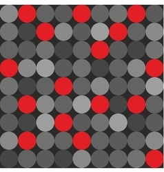 Tile pattern big red grey and black polka dots vector image