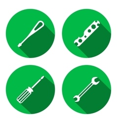 Tool icon Spanner nut wrench screwdriver vector
