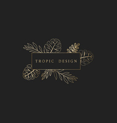 tropic gold icon template vector image