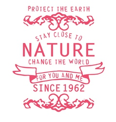 Type fonts type-fonts print pink nature vector