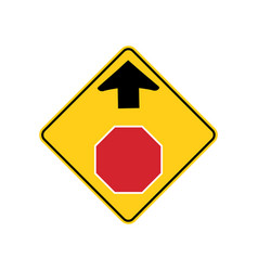 usa traffic road signwarning that a stop sign is vector image