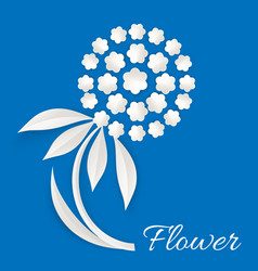 white flower made of paper vector image