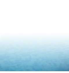 White fog with blue water sea surface vector image