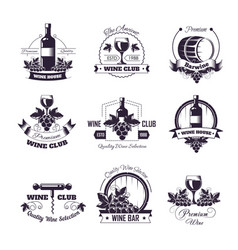 wine club house icon templates vector image