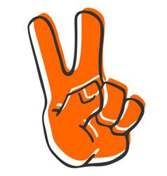 winner hand victory vector image