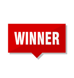 Winner red tag vector