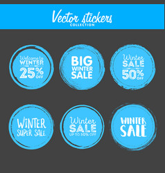 winter sale grunge circle element for your design vector image vector image