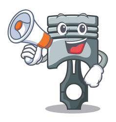 with megaphone piston in the form of mascot vector image