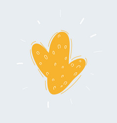 yellow bush on white background hand drawn object vector image