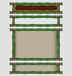 Bamboo banners set vector image vector image