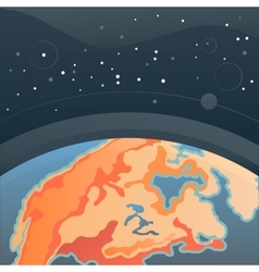Cosmic background with Earth vector image