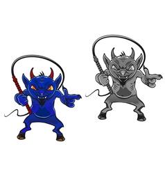 danger cartoon devil vector image vector image
