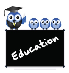 Education message vector image vector image