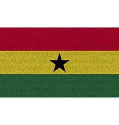 Flags Ghana on denim texture vector image vector image