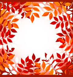 floral background with orange and red leaves and vector image vector image