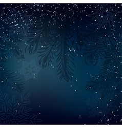 Night Christmas background with whirling snow and vector image
