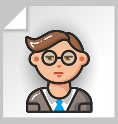 people face icons 19 vector image vector image