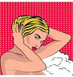 Sexy nude pop art girl vector image vector image