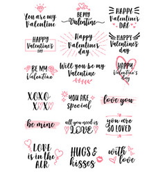 valentines day cards set vector image vector image