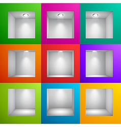 wall shelf colored vector image vector image