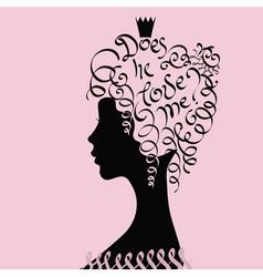Young princess vector image vector image