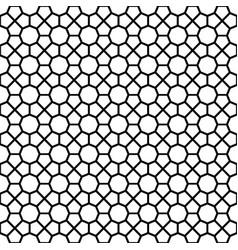 black octagon shape pattern background vector image vector image