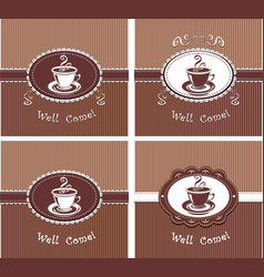 cup of coffee or tea vector image vector image