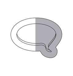 figure round chat bubble icon vector image vector image
