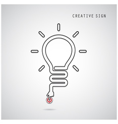 Turn on Creative light bulb concept vector image