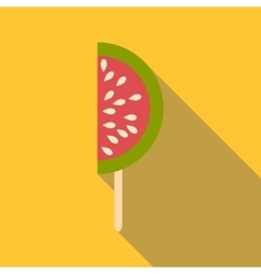 Watermelon ice cream icon flat style vector image vector image