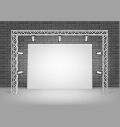 white poster picture with wall and illumination vector image